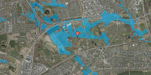 Oversvømmelsesrisiko fra vandløb på Møllestensvej 23, 2625 Vallensbæk