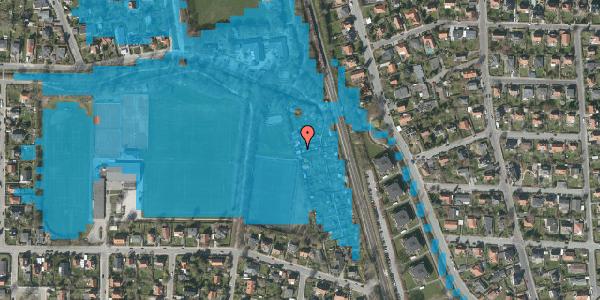 Oversvømmelsesrisiko fra vandløb på Rødhalsgangen 21, 2400 København NV