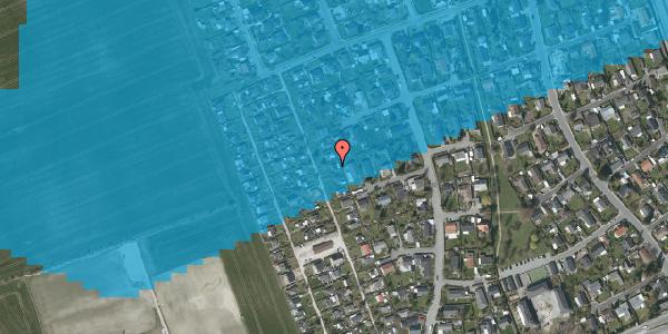 Oversvømmelsesrisiko fra vandløb på Hf. Dahlia 38, 2650 Hvidovre