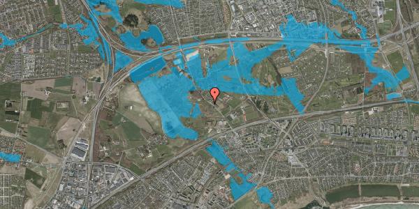 Oversvømmelsesrisiko fra vandløb på Vejlegårdsvej 93, 2625 Vallensbæk