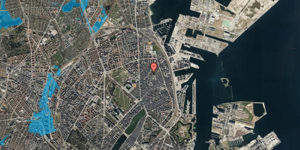 Oversvømmelsesrisiko fra vandløb på Viborggade 42, 1. , 2100 København Ø