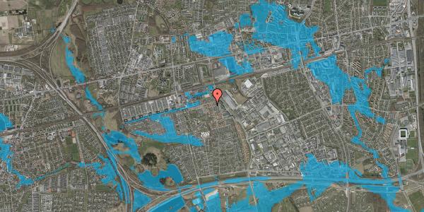 Oversvømmelsesrisiko fra vandløb på Kløvervænget 54, 2625 Vallensbæk