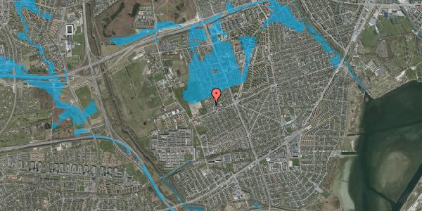 Oversvømmelsesrisiko fra vandløb på Hf. Dahlia 12, 2650 Hvidovre