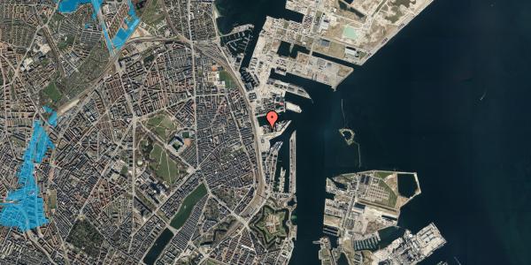 Oversvømmelsesrisiko fra vandløb på Marmorvej 9A, 3. th, 2100 København Ø