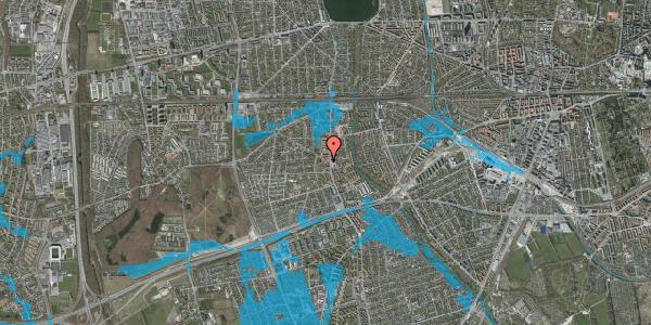Oversvømmelsesrisiko fra vandløb på Femagervej 3, 2650 Hvidovre