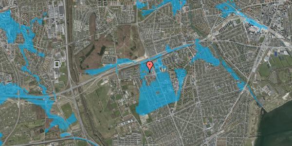 Oversvømmelsesrisiko fra vandløb på Hf. Kettehøj 52, 2650 Hvidovre