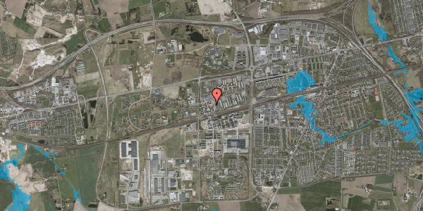 Oversvømmelsesrisiko fra vandløb på Haslevgade 10, 2630 Taastrup