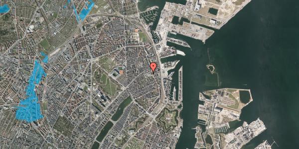 Oversvømmelsesrisiko fra vandløb på Rosenvængets Hovedvej 41, 2100 København Ø