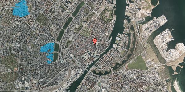 Oversvømmelsesrisiko fra vandløb på Lille Kongensgade 20A, 2. , 1074 København K