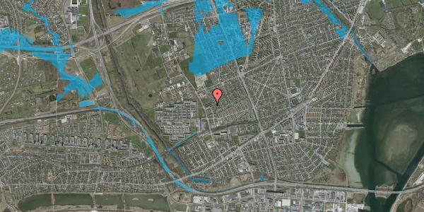 Oversvømmelsesrisiko fra vandløb på Mellemvangsvej 110, st. , 2650 Hvidovre