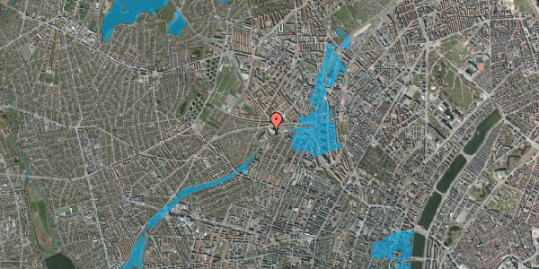 Oversvømmelsesrisiko fra vandløb på Rabarbervej 6, st. , 2400 København NV