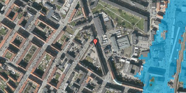 Oversvømmelsesrisiko fra vandløb på Frederiksborgvej 23, 1. 1, 2400 København NV