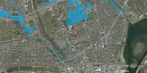 Oversvømmelsesrisiko fra vandløb på Mellemvangsvej 116, 2650 Hvidovre