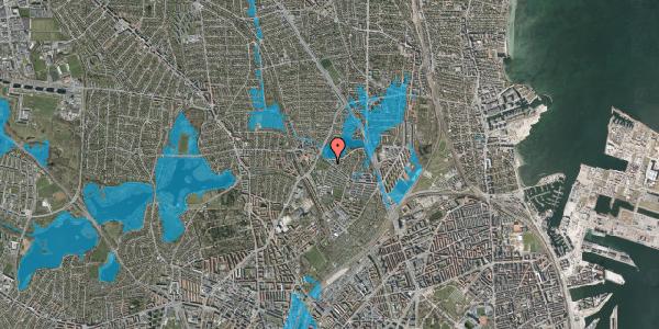 Oversvømmelsesrisiko fra vandløb på Emdrupvej 91, 2100 København Ø