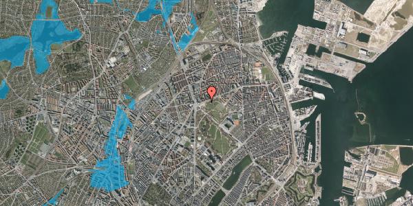 Oversvømmelsesrisiko fra vandløb på Jagtvej 186, 2100 København Ø