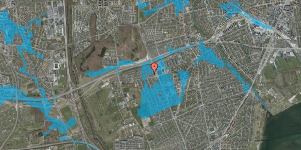 Oversvømmelsesrisiko fra vandløb på Hf. Kettehøj 90, 2650 Hvidovre
