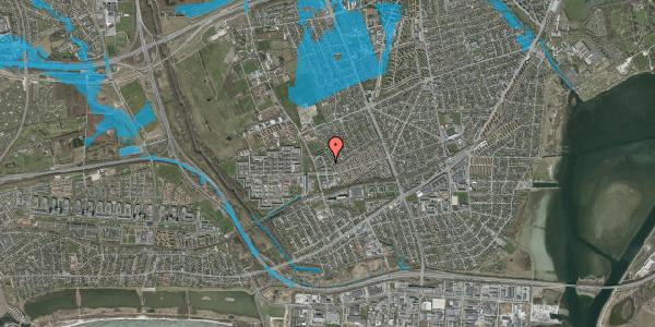 Oversvømmelsesrisiko fra vandløb på Mellemvangsvej 62, 1. th, 2650 Hvidovre
