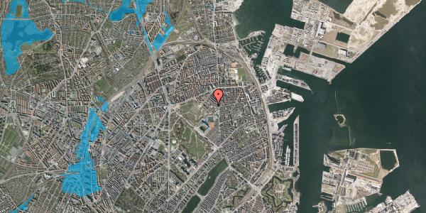 Oversvømmelsesrisiko fra vandløb på Østerfælled Torv 34, 2100 København Ø
