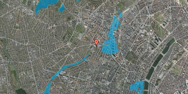 Oversvømmelsesrisiko fra vandløb på Rabarbervej 6, 2. 6, 2400 København NV