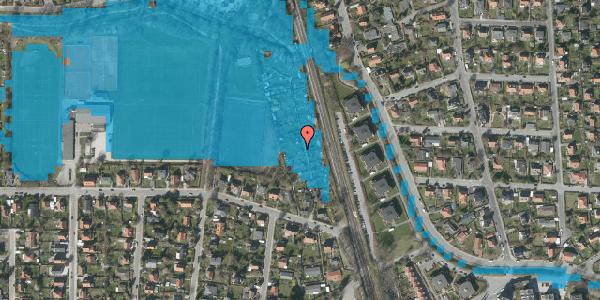 Oversvømmelsesrisiko fra vandløb på Rødhalsgangen 29, 2400 København NV