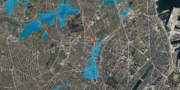 Oversvømmelsesrisiko fra vandløb på Bygmestervej 21B, 2. th, 2400 København NV