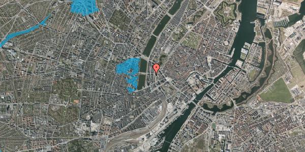 Oversvømmelsesrisiko fra vandløb på Vester Farimagsgade 21, 1. , 1606 København V