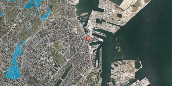 Oversvømmelsesrisiko fra vandløb på Østbanegade 131, 2100 København Ø