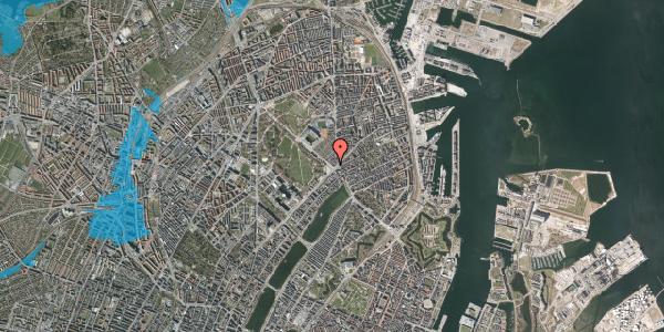 Oversvømmelsesrisiko fra vandløb på Øster Allé 4, 2100 København Ø