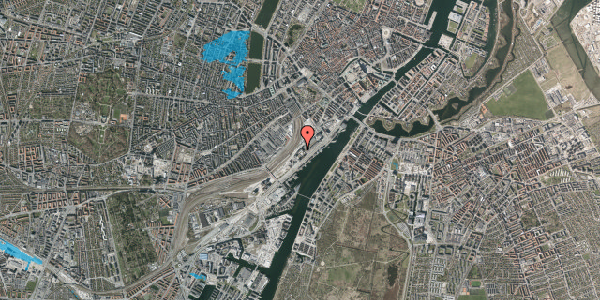 Oversvømmelsesrisiko fra vandløb på Carsten Niebuhrs Gade 11, 1577 København V
