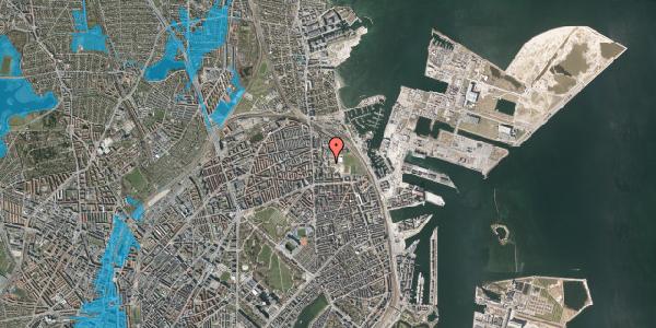 Oversvømmelsesrisiko fra vandløb på Sionsgade 7, 1. , 2100 København Ø