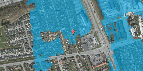 Oversvømmelsesrisiko fra vandløb på Hf. Kettehøj 93, 2650 Hvidovre