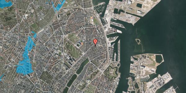 Oversvømmelsesrisiko fra vandløb på A.L. Drewsens Vej 15, 2100 København Ø