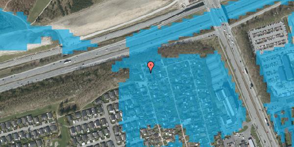 Oversvømmelsesrisiko fra vandløb på Hf. Kettehøj 22, 2650 Hvidovre