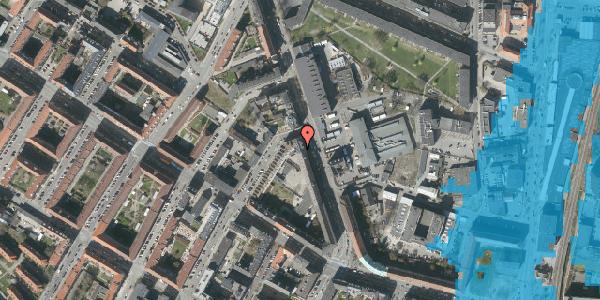 Oversvømmelsesrisiko fra vandløb på Frederiksborgvej 21, 3. tv, 2400 København NV