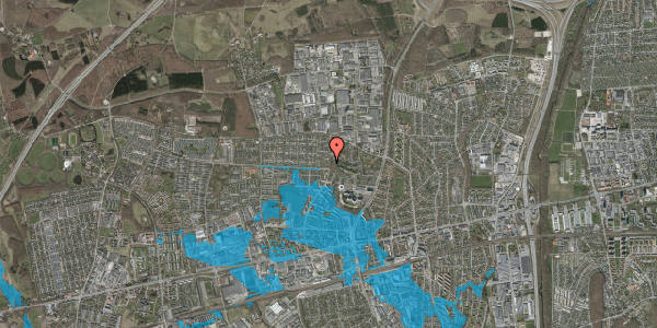 Oversvømmelsesrisiko fra vandløb på Haveforeningen Hersted 5, 2600 Glostrup