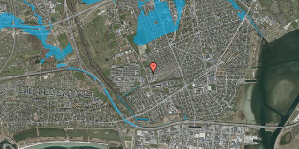 Oversvømmelsesrisiko fra vandløb på Mellemvangsvej 11, 2650 Hvidovre