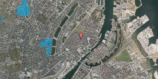 Oversvømmelsesrisiko fra vandløb på Købmagergade 36, 1150 København K