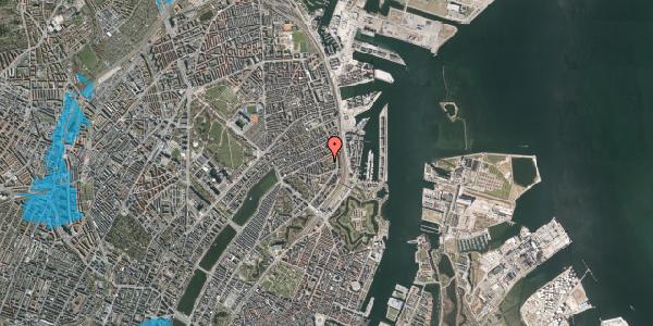 Oversvømmelsesrisiko fra vandløb på Arendalsgade 6D, 2100 København Ø