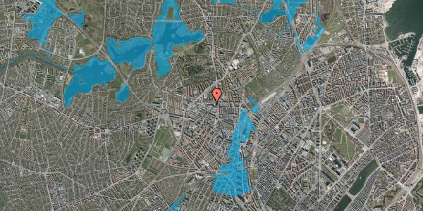 Oversvømmelsesrisiko fra vandløb på Dortheavej 2C, 3. tv, 2400 København NV