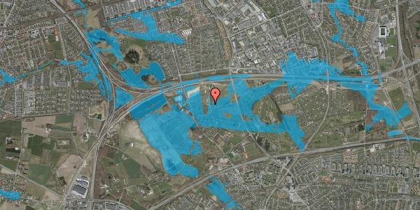 Oversvømmelsesrisiko fra vandløb på Kirkebakke Alle 6, 2625 Vallensbæk
