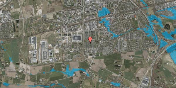 Oversvømmelsesrisiko fra vandløb på Sankt Mikkels Alle 106, 2630 Taastrup