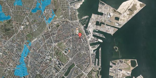 Oversvømmelsesrisiko fra vandløb på Svendborggade 1, 4. 409, 2100 København Ø