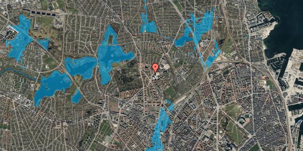 Oversvømmelsesrisiko fra vandløb på Peter Rørdams Vej 4, st. mf, 2400 København NV