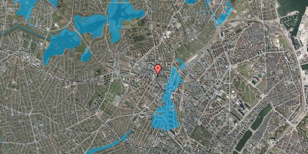 Oversvømmelsesrisiko fra vandløb på Glasvej 25, 2. th, 2400 København NV