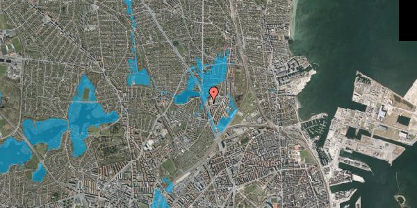 Oversvømmelsesrisiko fra vandløb på Gartnerivej 1B, 2100 København Ø