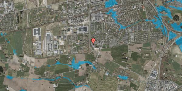 Oversvømmelsesrisiko fra vandløb på Vandmestervej 32A, 2630 Taastrup