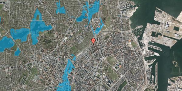 Oversvømmelsesrisiko fra vandløb på Rovsingsgade 40, 2. , 2100 København Ø