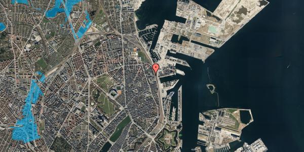 Oversvømmelsesrisiko fra vandløb på Hjørringgade 37, 1. th, 2100 København Ø