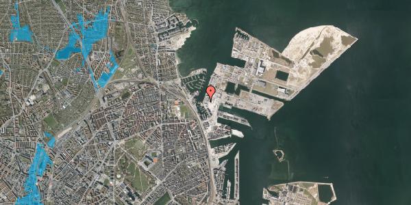 Oversvømmelsesrisiko fra vandløb på Sundkrogen 6, st. , 2100 København Ø