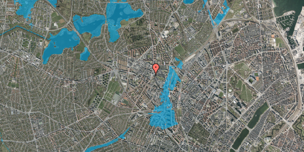 Oversvømmelsesrisiko fra vandløb på Glasvej 25, 2. tv, 2400 København NV